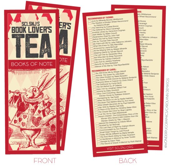 SCLSNJ's First Annual Book Lover's Tea [2016]