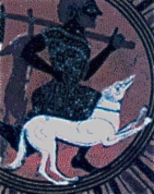 Image result for Ancient Greek hunting dogs vase