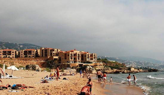 Byblos public beach