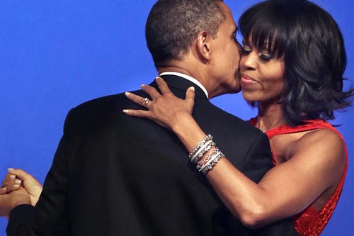 President Obama and wife dancing