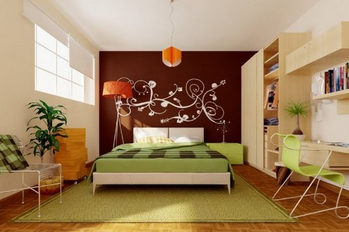 A Feature Wall Bedroom