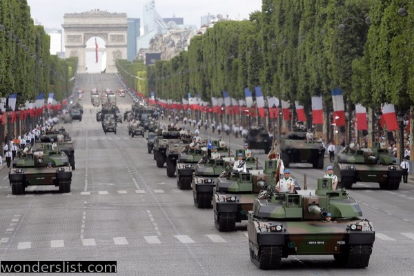 the Bastille Day parade in Paris
