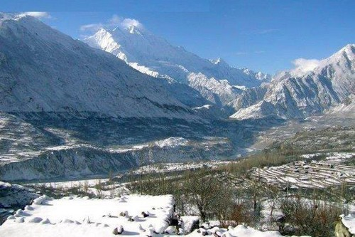 Snowfall in Pakistan