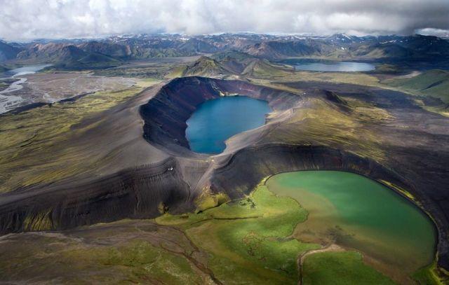 Iceland Volcano Lake