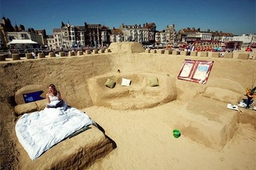 Sand Hotel on Weymouth Beach