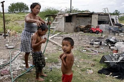 Horrid Slums  in Colonias, Texas