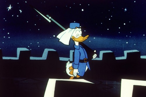 Donald Duck As Soldier