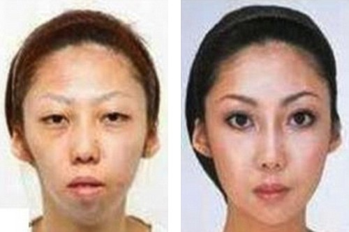 Before and after  Jian Feng's wife