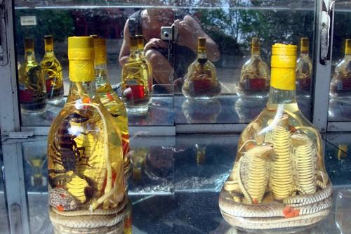 Snake and scorpion wine