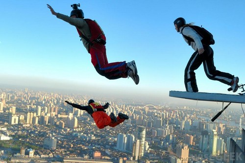 BASE jumping is most dangerous sports