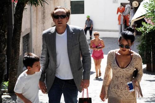 Nicolas Cage and wife Alice Kim son Kal-El
