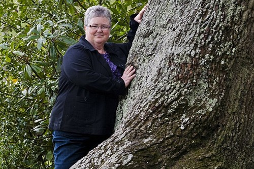 Val Theroux with Oak Tree