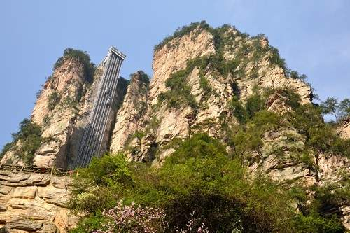 Worlds tallest fixed ladder - Bailong Elevator
