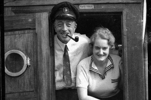 Count Felix Graf von Luckner with wife