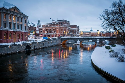 Beautiful Canal Cities Stockholm