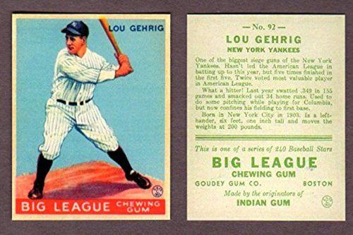 Lou Gehrig 1933 Goudey
