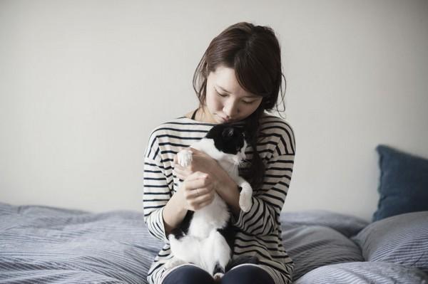 cute cat and girl