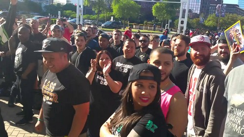 Fans at WrestleMania 32