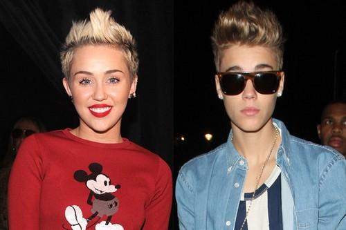 Justin Bierber And Miley Cyrus