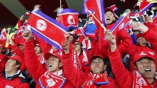 North Korean Soccer Fans