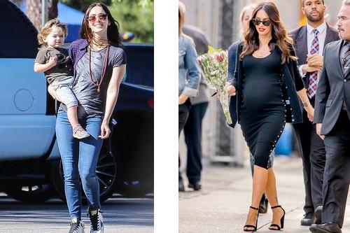 Pregnant Megan Fox hottest celebrity moms