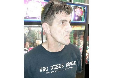 T-Shirt Written 'I Have Drugs'