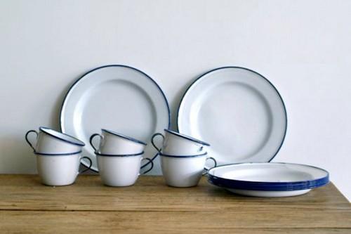 White Enamel Dishware