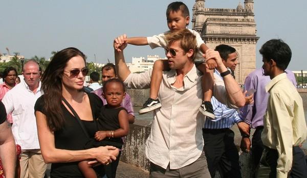 Angelina Jolie, Zahara, Brad Pitt, Maddox