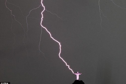 Selfie During A Lightning Storm