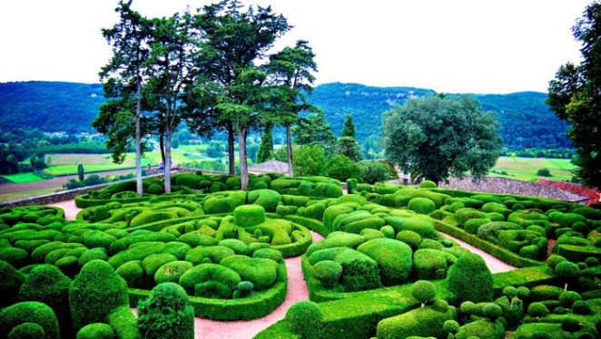 Gardens at Marqueyssac, Vézac, France. Most amazing places on Earth