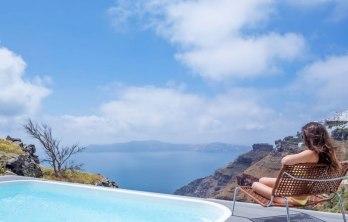 Sensational Cave Pools In Santorini