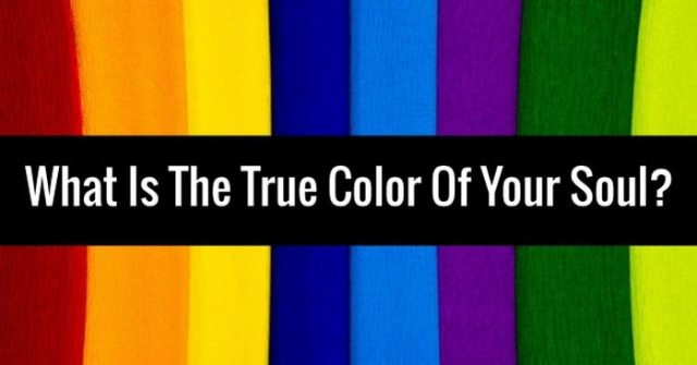 The true color of the soul