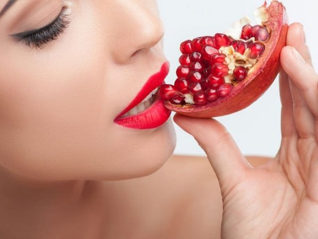 Pomegranate Seeds and Pink Lips