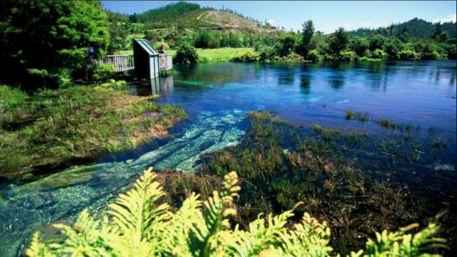 Te waikoropupu springs, places with crystal clear water