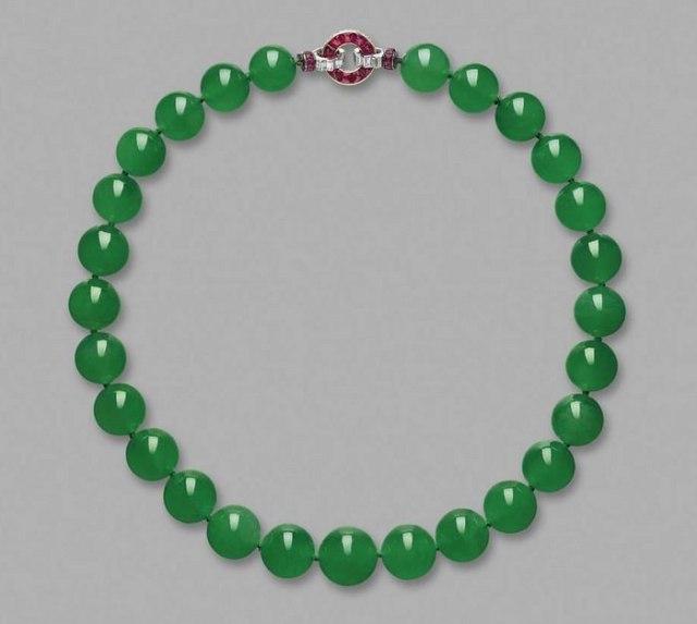 Hutton-Mdivani Jadeite Necklace