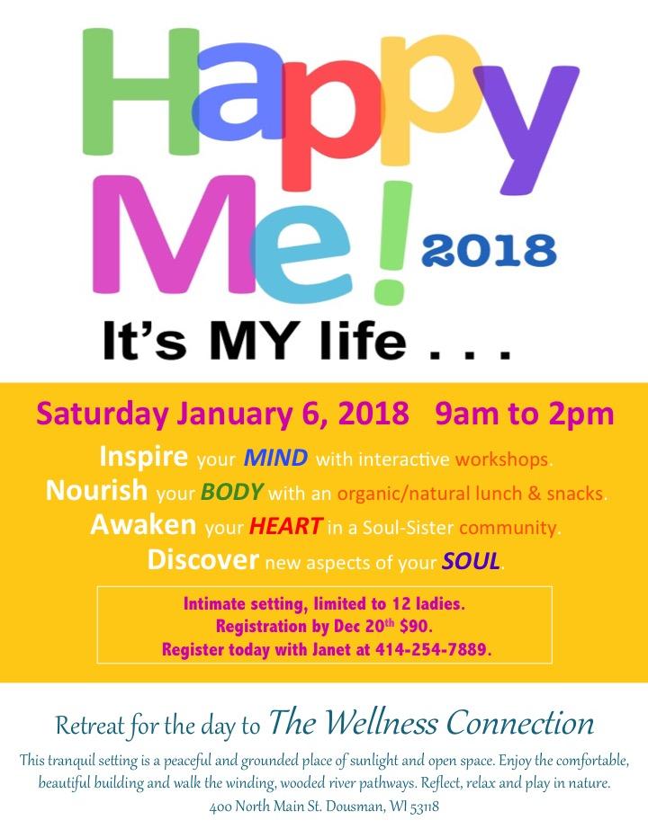 Happy Me! Retreat 2018 front