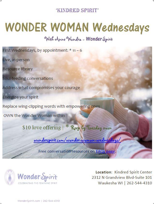 First Wednesdays at Kindred Spirit Coaching & Wellness