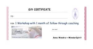 1-month program gift certificate, wonderspirit.com