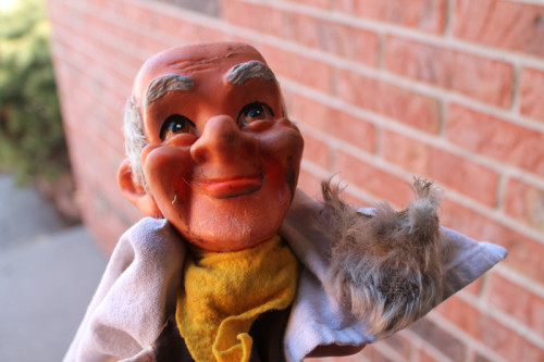 Dirty Old Man Puppet with Beard Removed