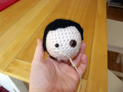 USE Stuffed Head with Eyes and Hair on