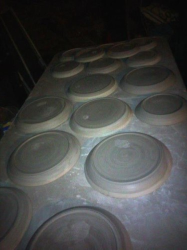 Michelle's Pic of Plates Trimmed and Drying