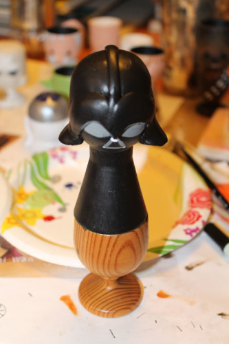 Darth Vader Painted with Eyes