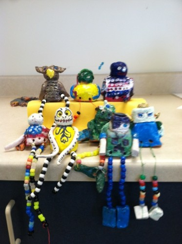 Cindy also made clay guys with her summer school buddies.
