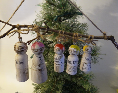 peg people hanging