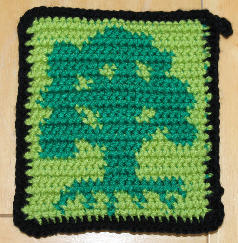 Finished Forest Potholder - Feature Shot
