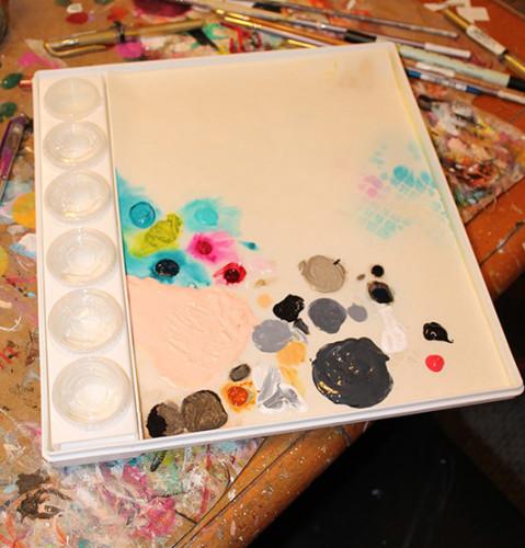 Sta-Wet - Paper wtih Paint