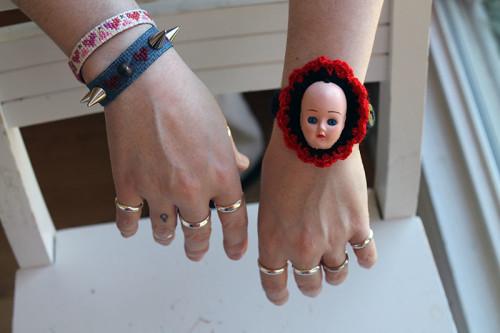 Doll Head Bracelet Feature Shot