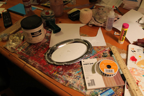 Tray with White Paint