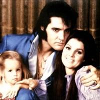 Lisa Marie Presley, Priscilla Presley and Elvis Presley