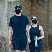 Ashley Benson and G-Eazy hold hands during an afternoon hike